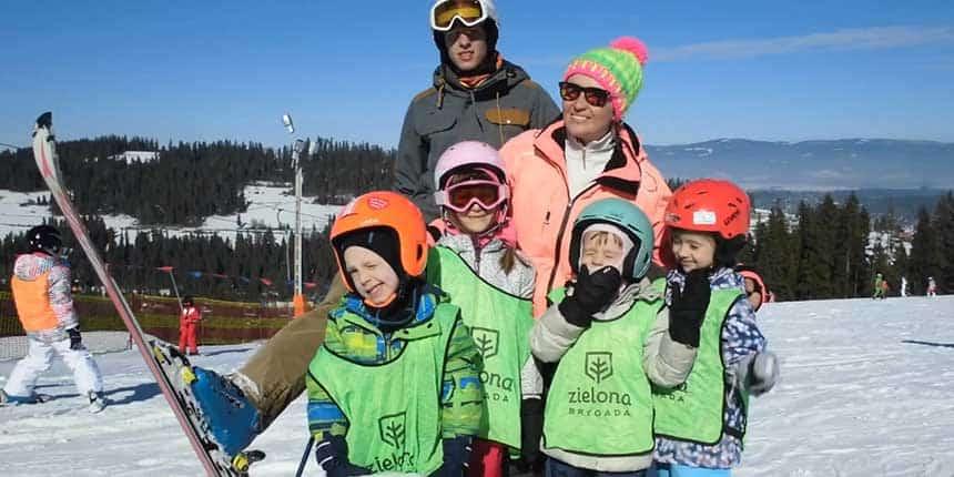 przedszkole narciarskie - ferie zimowe