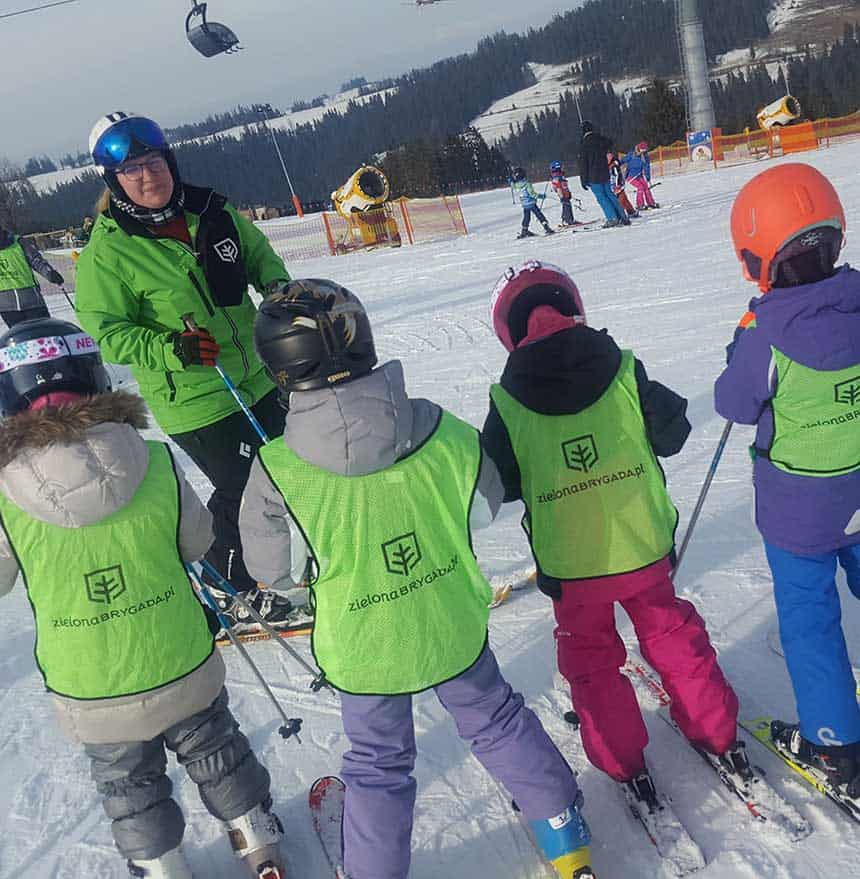 grupa na nartach Zielona Brygada