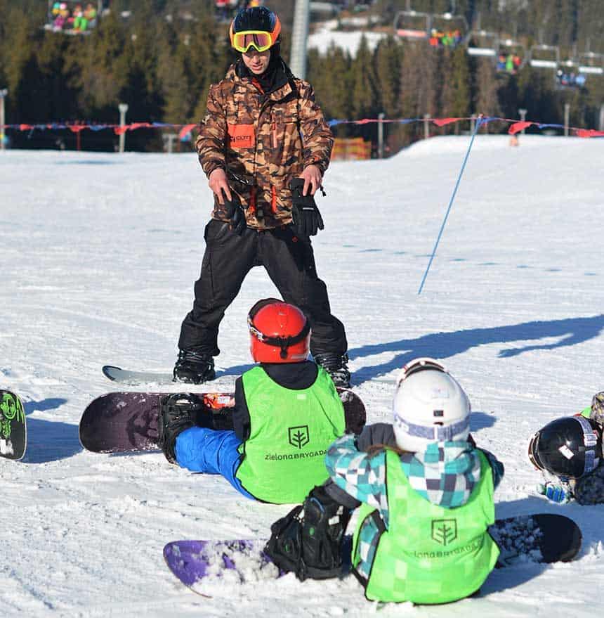 na snowboardzie w Bukowinie tatrzańskiej - Ferie Zimowe