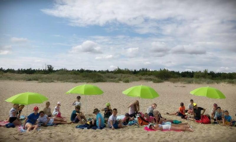 obóz nad morzem Mikoszewo